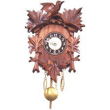Battery Operated Carved Clock with Leaf Detail