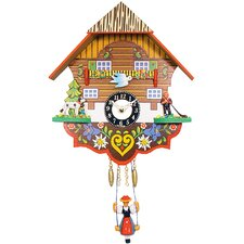 Clock with Swinging Girl and Chimes or Cuckoo Options