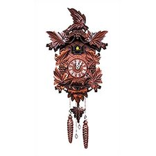 Dark Wood Cuckoo Clock with Music and Large Bird