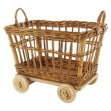 "Eco-Friendly 18"" Rolling Mini Cart"