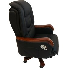 Compact Leather Executive Chair