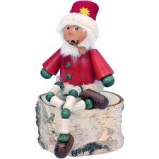 Seiffener Nussknackerhaus Sitting Santa Incense Burner