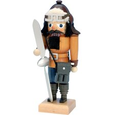 Ulbricht / Seiffener Nussknacker Small Pilot Nutcracker in Natural Wood