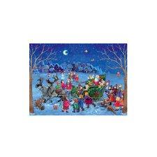 Santa on Sleigh Advent Calendar