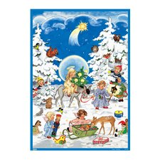 Glitter Angels with Children Advent Calendar