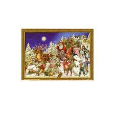 Large Santa and Sled Advent Calendar