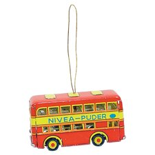 Tin Double Decker Bus Ornament