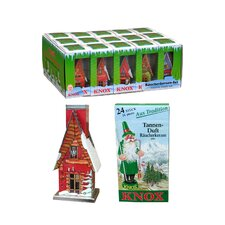 Knox Metal Incense Houses with Incense (Set of 15)