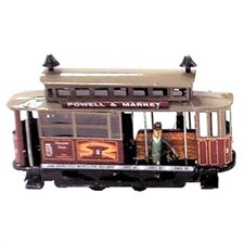 Tin Wind Up Tram Car