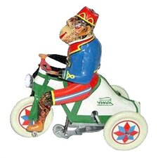 Tin Wind Up Monkey Rider