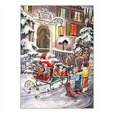 Small Santa and Sleigh Advent Calendar