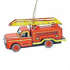 Tin Fire Truck Ornament