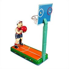 Tin Basketball Player Toy