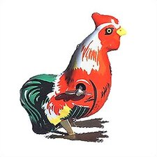 Tin Rooster Toy