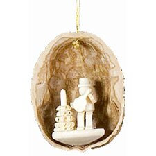 Musician with Mandolin Nutshell Ornament