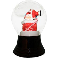 Santa Chimney Snowglobe