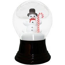 Snowman and Candy Cane Snowglobe