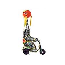 Tin Wind Up Elephant on Scooter Toy