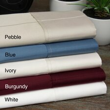 <strong>Aspire Linens</strong> Pin-Stripe 620 Thread Count Egyptian Cotton Sateen Sheet Set