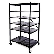 "R5 Foldable Metal 61.62"" H Nine Shelf Shelving Unit"
