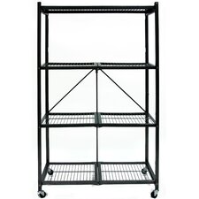 "R5 Foldable Metal 61"" H Shelving Unit"
