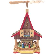 2-Tier Nativity Scene Pyramid