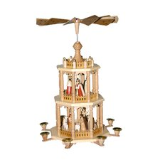 3 Tier Wood Nativity Scene Pyramid