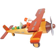 Santa in Bi-plane Incense Burner