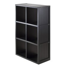 Timothy 3 x 2 Cube Shelf with Wainscoting Panel