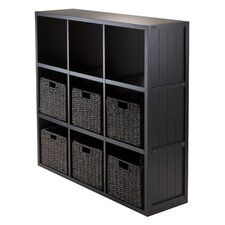 Timothy 3 x 3 Cube Shelf with Baskets