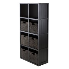 Timothy 4 x 2 Cube Shelf with Baskets