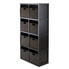 Timothy 4 x 2 Slot Shelf with 8 Basket