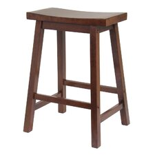 "Saddle Seat 24"" Counter Stool in Walnut"