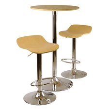 <strong>Winsome</strong> Kallie 3 Piece Pub Table and Stools Set in Natural