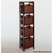 Espresso 4 Section Storage Shelf