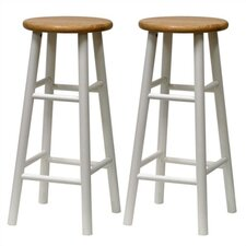 "Basics White 30"" Barstool (Set of 2)"