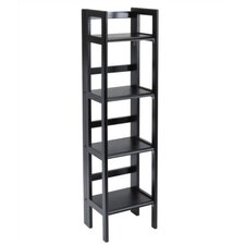 "Basics 51"" H Folding Four Tier Bookshelf"