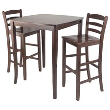 Inglewood 3 Piece Counter Height Pub Table Set