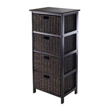 Omaha Storage Rack with 4 Foldable Baskets