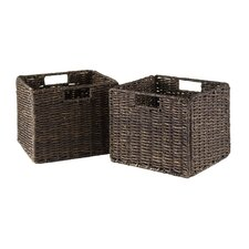 <strong>Winsome</strong> Granville Foldable Small Corn Husk Baskets (Set of 2)