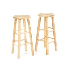 "29"" Backless Square Leg Bar Stool (Set of 2)"