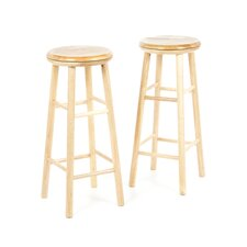 "Basics 31"" Beechwood Swivel Barstool (Set of 2)"