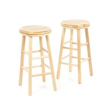 "Classic 24"" Swivel Bar Stool (Set of 2)"