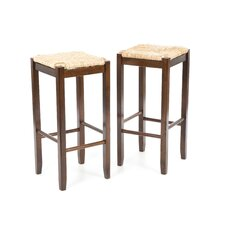 "Regalia 29"" Barstool w/ Rush Seat (Set of 2)"