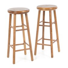 "30"" Backless Swivel Bar Stool (Set of 2)"