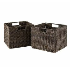 Espresso Small Storage Baskets (Set of 2)
