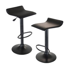 "Obsidian 22.68"" Swivel Adjustable Bar Stool (Set of 2)"