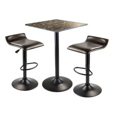 <strong>Winsome</strong> Cora 3 Piece Pub Table Set