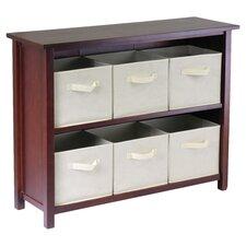 Verona Low Storage Shelf with 6 Foldable  Baskets