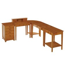 <strong>Winsome</strong> Studio Home L-Shape Desk 5 Piece Office Suite